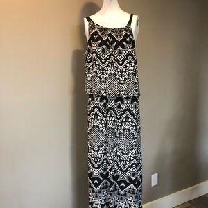 Alfani black and white maxi dress